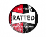 Distressed Aged RATTED Funny Design For Rat Look VW Vinyl Car sticker decal 97x97mm